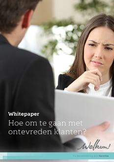 Welkom! Whitepaper - Hoe om te gaan met ontevreden klanten